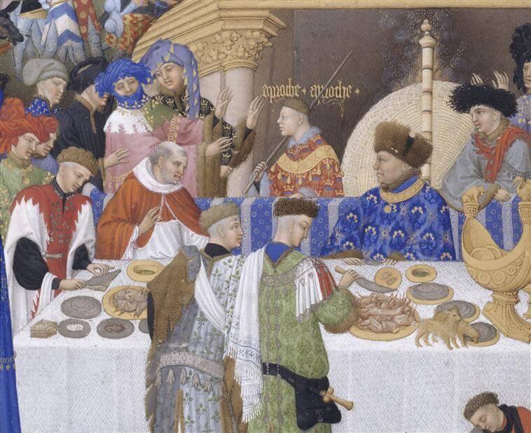 Le repas et la Cuisine Médiévale