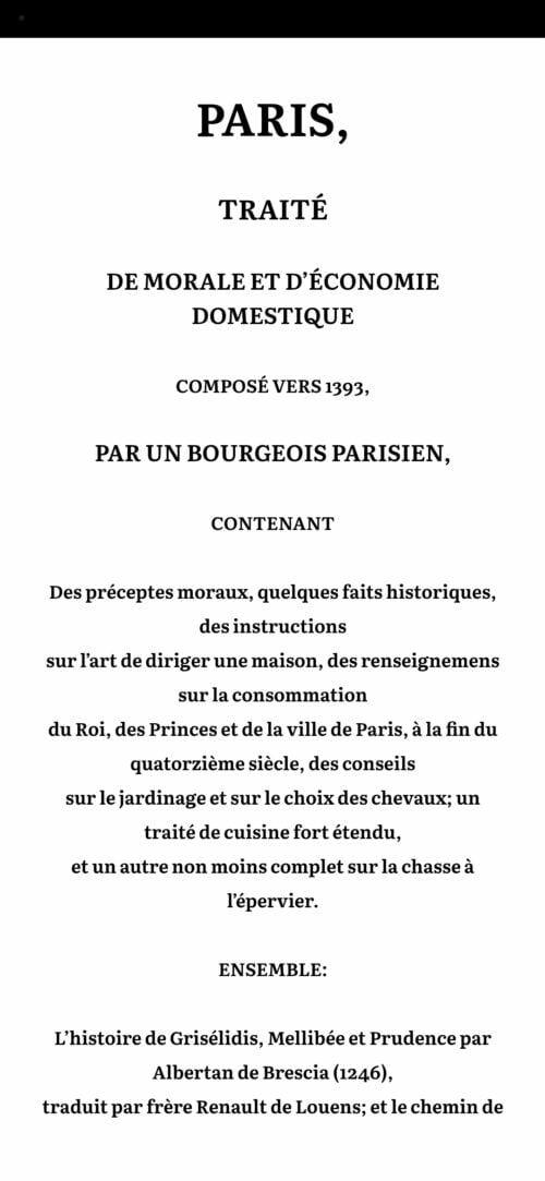 Le Ménagier de Paris 3