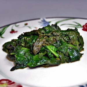 épinards frits recette médiévale