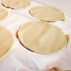 Faites des ronds de pâte