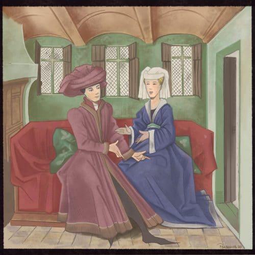 Le Ménagier de Paris - Recette Médiévale -- Illustration par Pauline VB à partir de l'originale