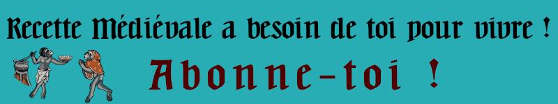 S'abonner à Recette Médiévale