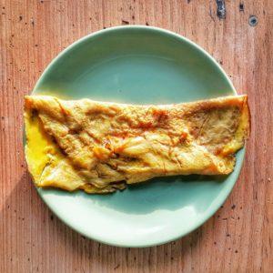 Omelette caramélisée d'après le Ménagier de Paris