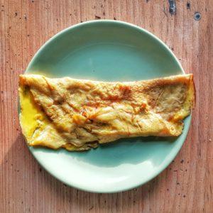 Omelette caramélisée - Alumelle frite au sucre d'après le Ménagier de Paris XIV°